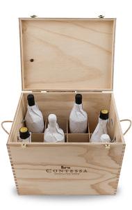 Cassetta in legno per 12 bottiglie