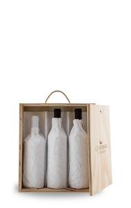 Cassetta in legno per tre bottiglie